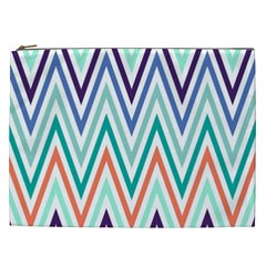 Chevrons Colourful Background Cosmetic Bag (xxl)