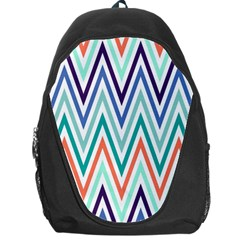 Chevrons Colourful Background Backpack Bag