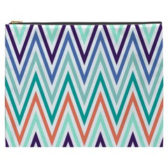 Chevrons Colourful Background Cosmetic Bag (XXXL)