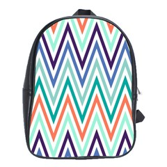 Chevrons Colourful Background School Bags (XL)