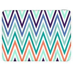 Chevrons Colourful Background Samsung Galaxy Tab 7  P1000 Flip Case