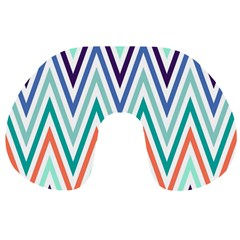 Chevrons Colourful Background Travel Neck Pillows