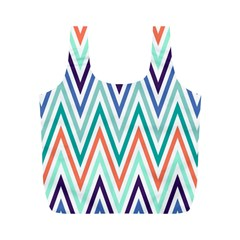 Chevrons Colourful Background Full Print Recycle Bags (M)