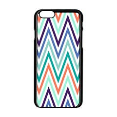 Chevrons Colourful Background Apple iPhone 6/6S Black Enamel Case