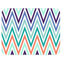 Chevrons Colourful Background Double Sided Flano Blanket (Medium)