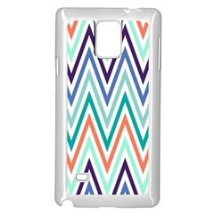 Chevrons Colourful Background Samsung Galaxy Note 4 Case (white)
