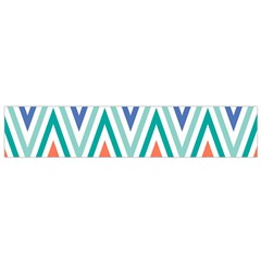 Chevrons Colourful Background Flano Scarf (small)