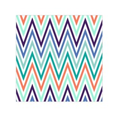 Chevrons Colourful Background Small Satin Scarf (square)