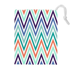 Chevrons Colourful Background Drawstring Pouches (Extra Large)
