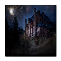 Castle Mystical Mood Moonlight Tile Coasters