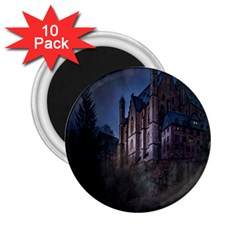 Castle Mystical Mood Moonlight 2.25  Magnets (10 pack)