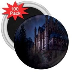 Castle Mystical Mood Moonlight 3  Magnets (100 pack)