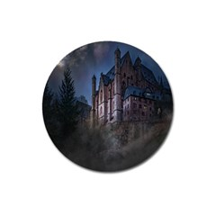 Castle Mystical Mood Moonlight Magnet 3  (Round)
