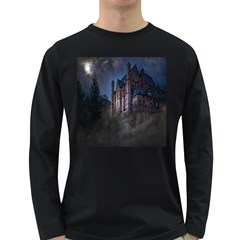 Castle Mystical Mood Moonlight Long Sleeve Dark T-Shirts