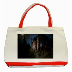 Castle Mystical Mood Moonlight Classic Tote Bag (Red)