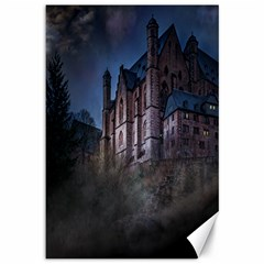 Castle Mystical Mood Moonlight Canvas 12  X 18
