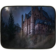Castle Mystical Mood Moonlight Double Sided Fleece Blanket (Mini)