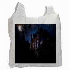 Castle Mystical Mood Moonlight Recycle Bag (one Side)