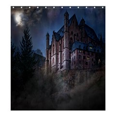 Castle Mystical Mood Moonlight Shower Curtain 66  x 72  (Large)