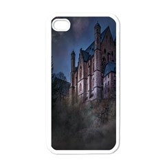 Castle Mystical Mood Moonlight Apple iPhone 4 Case (White)