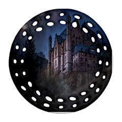 Castle Mystical Mood Moonlight Round Filigree Ornament (Two Sides)