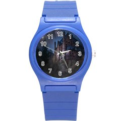 Castle Mystical Mood Moonlight Round Plastic Sport Watch (s)