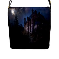 Castle Mystical Mood Moonlight Flap Messenger Bag (L)