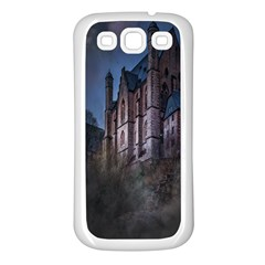 Castle Mystical Mood Moonlight Samsung Galaxy S3 Back Case (white)