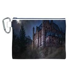 Castle Mystical Mood Moonlight Canvas Cosmetic Bag (L)