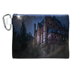 Castle Mystical Mood Moonlight Canvas Cosmetic Bag (XXL)