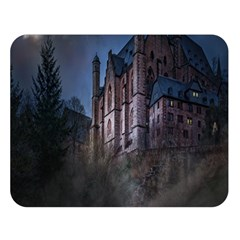 Castle Mystical Mood Moonlight Double Sided Flano Blanket (large)