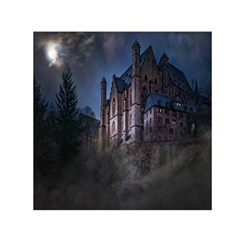 Castle Mystical Mood Moonlight Small Satin Scarf (square)