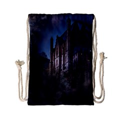 Castle Mystical Mood Moonlight Drawstring Bag (Small)