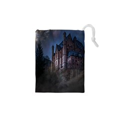 Castle Mystical Mood Moonlight Drawstring Pouches (XS)