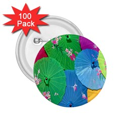 Chinese Umbrellas Screens Colorful 2.25  Buttons (100 pack)