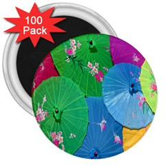 Chinese Umbrellas Screens Colorful 3  Magnets (100 pack)
