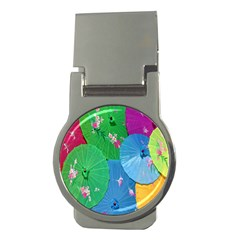 Chinese Umbrellas Screens Colorful Money Clips (Round)