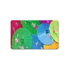 Chinese Umbrellas Screens Colorful Magnet (name Card)