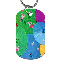 Chinese Umbrellas Screens Colorful Dog Tag (two Sides)