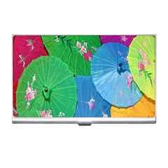 Chinese Umbrellas Screens Colorful Business Card Holders