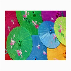 Chinese Umbrellas Screens Colorful Small Glasses Cloth