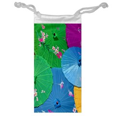 Chinese Umbrellas Screens Colorful Jewelry Bag