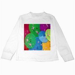 Chinese Umbrellas Screens Colorful Kids Long Sleeve T Shirts