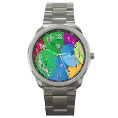 Chinese Umbrellas Screens Colorful Sport Metal Watch