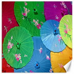 Chinese Umbrellas Screens Colorful Canvas 12  x 12