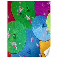Chinese Umbrellas Screens Colorful Canvas 18  x 24