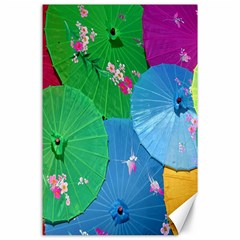 Chinese Umbrellas Screens Colorful Canvas 24  x 36