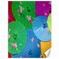 Chinese Umbrellas Screens Colorful Canvas 36  x 48