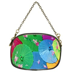 Chinese Umbrellas Screens Colorful Chain Purses (One Side)