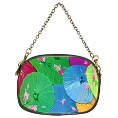 Chinese Umbrellas Screens Colorful Chain Purses (Two Sides)